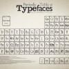 Periodic table of Typefaces #infografia #infographic #tipografia