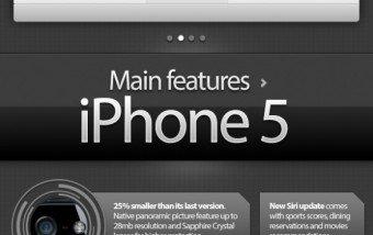 Comparativa entre iPhone 5 y iPhone 4s #infografia #infographic #iphone