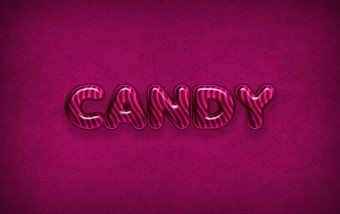 Como crear un cartel tipográfico con efecto caramelo. #tutorial #photoshop