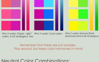 La teoría del color, simple guia para aprender a combinar colores. #infografia #tutorial