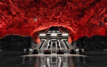 Underground Art In Stockholm's Metro Station #architecture #design