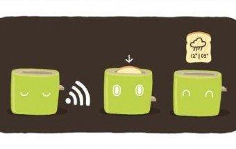 ¡Tostar el pan y saber el tiempo todo en uno! #gadgets #tecnologia