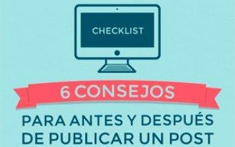 Consejos para antes y después de publicar un post.