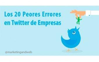 Los 20 peores errores en Twitter de empresas.