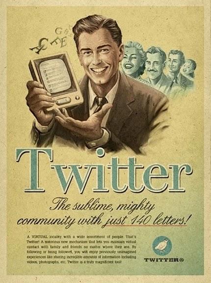 Cartel de Twitter en los 50.