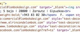 Código HTML de la firma