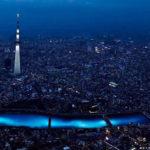 100,000 LED Balls Floating Down a River in Japan #art #fotografia #fotographic