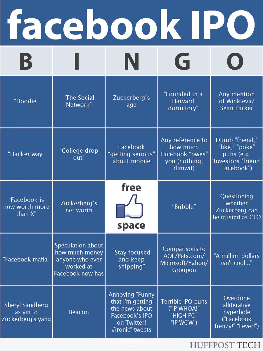 bingo de la salida a bolsa de facebook