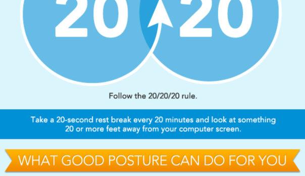 La postura en el trabajo. #infografia #salud