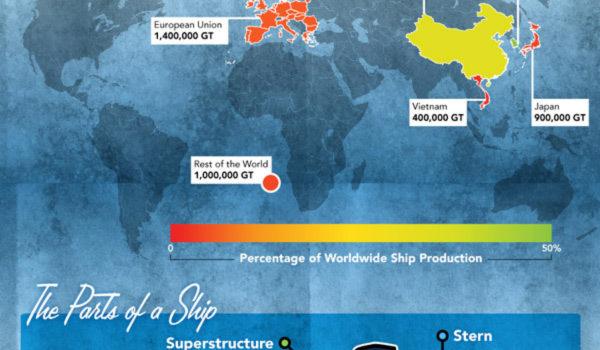 El barco de crucero más grande del Mundo #infografia #infographic #tourism