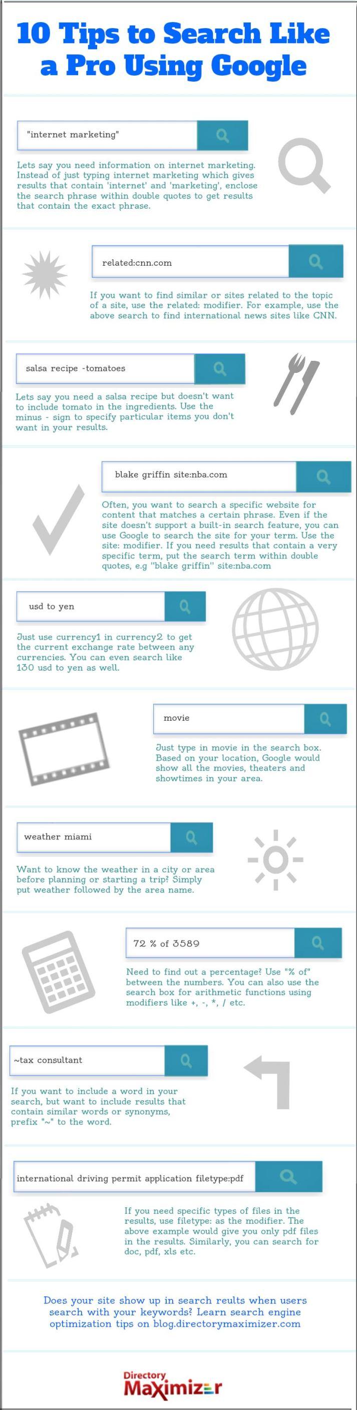 10 consejos para usar Google como un profesioinal