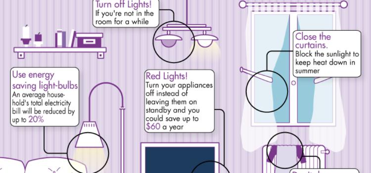 Trucos para ahorrar energía, y dinero, en tu casa. #infografia #medioambiente