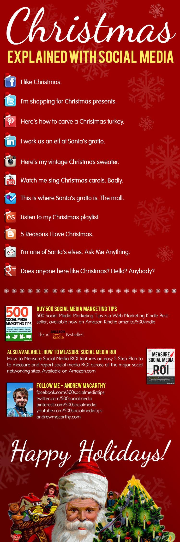 navidad en el social media