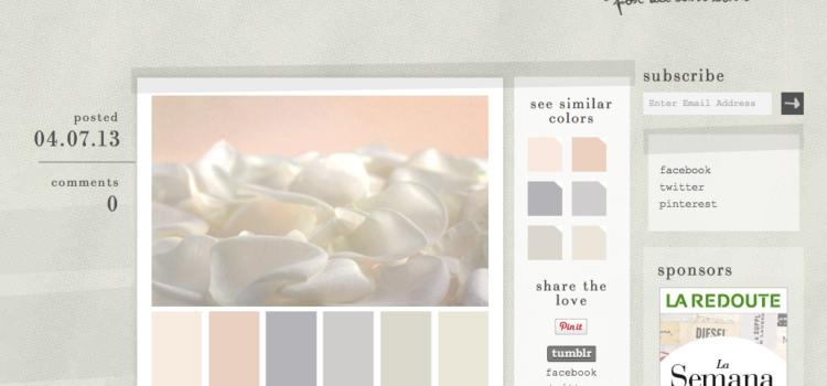 Design Seeds, solución al problema de elegir colores. #color #diseño