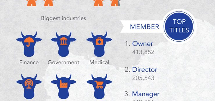 Linkedin: más de 4 millones de usuarios en Holanda #infografia #socialmedia #linkedin