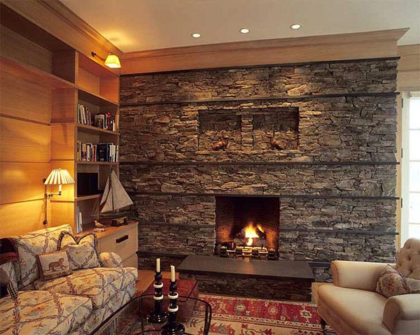 30 ejemplos de chimeneas de piedra #arquitectura #design ...