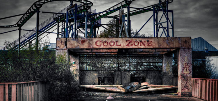 Parque de atracciones Six Flags abandonado