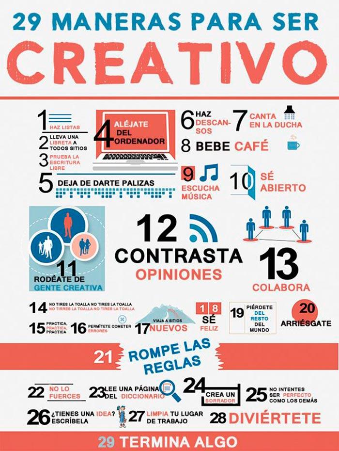 29 maneras para ser creativo.