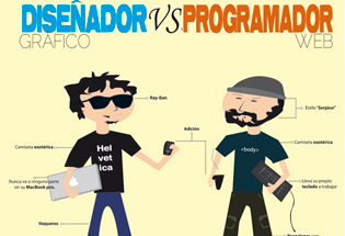 Diseñador gráfico vs programador.