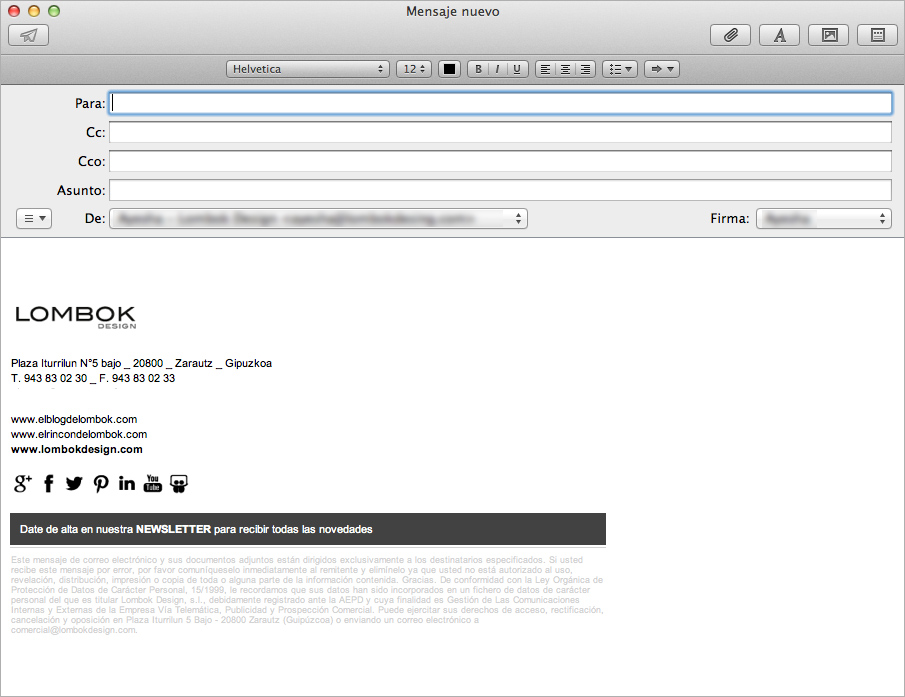 Crear firma html en mail para mac os x mavericks el for Design firma