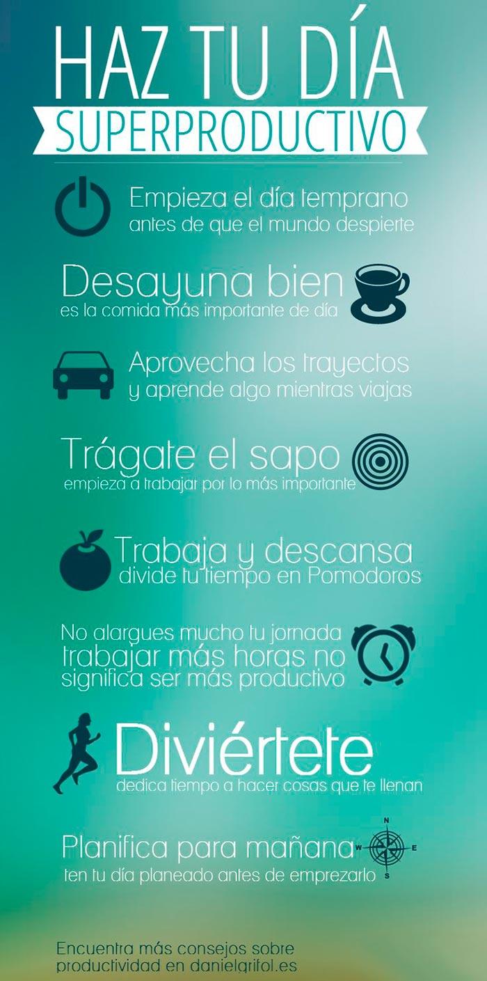 Infografia sobre como ser mas productivo