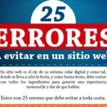 25 errores a evitar en un sitio web.