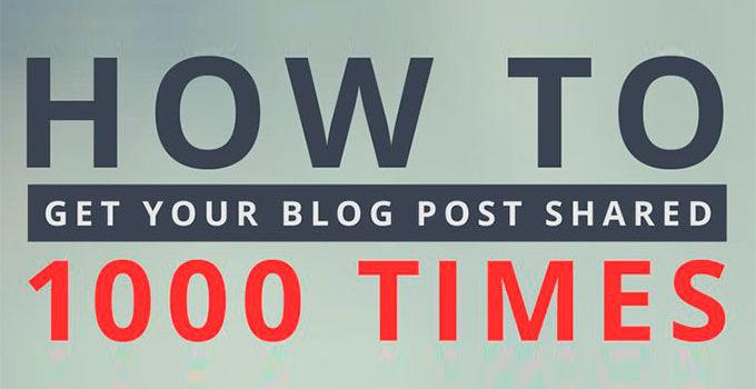 Trucos para que tu post se comparta 1000 veces más