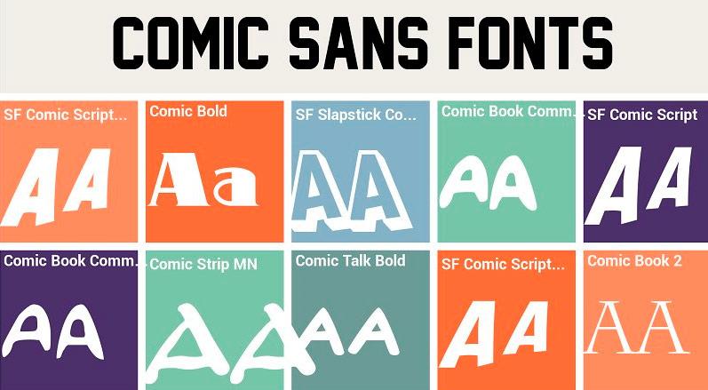 La tipografía Comic Sans