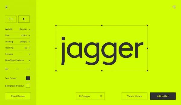 Diseñada por el estudio londinense Face37 para comercializar la tipografía F37.