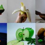 El original alfabeto hecho con comida, de Sarah Das