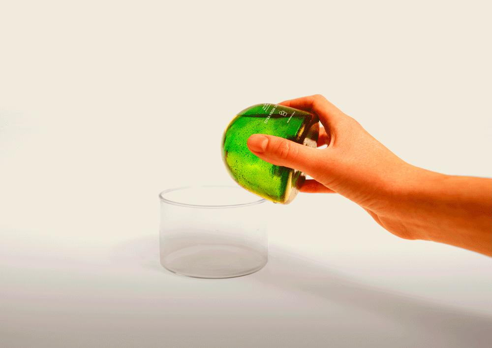 Envase de aceite biodegradable