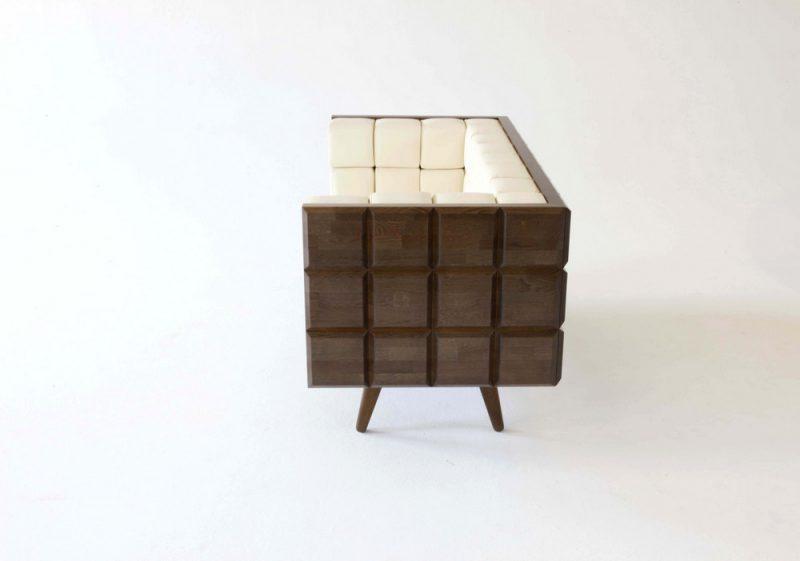 Better Than Chocolate, el sofá de diseño que se parece a una tableta de chocolate.