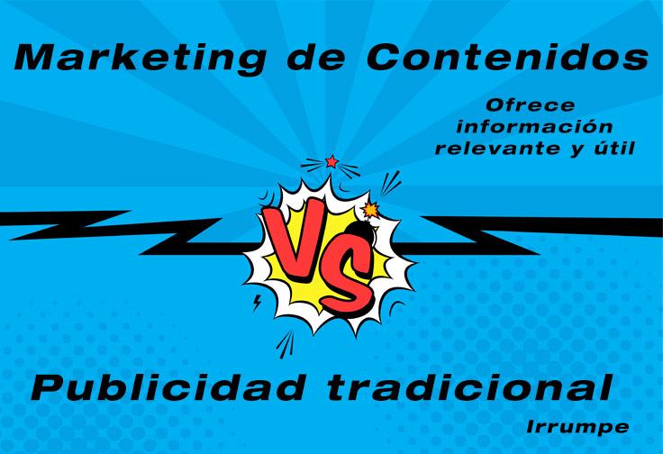 Marketing de Contenidos vs Publicidad tradicional.