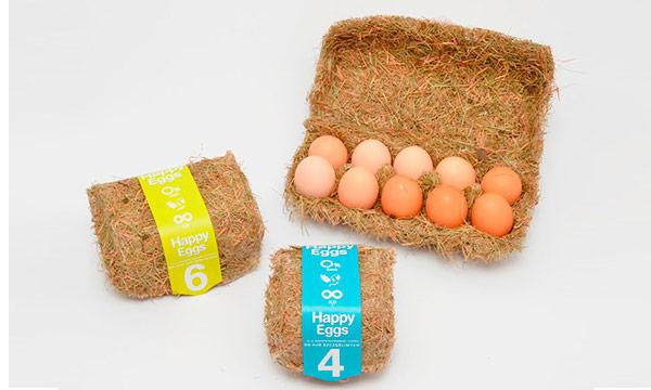 Packaging creativo y original de huevos.