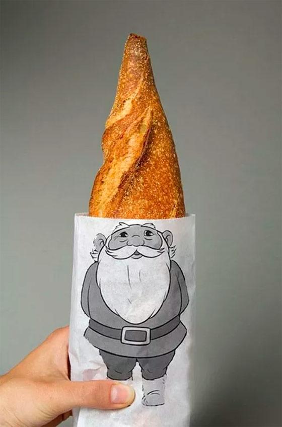 Bolsa barra de pan David el Gnomo, de Lo Siento Studio.