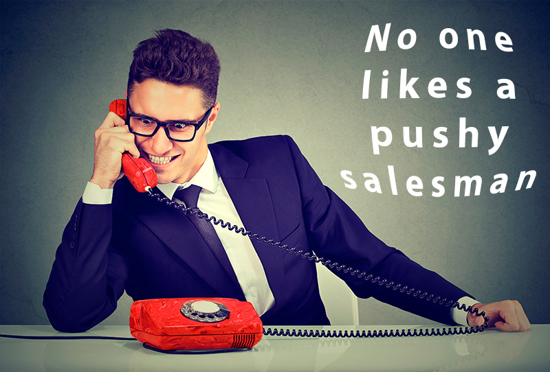 Sales man on the phone