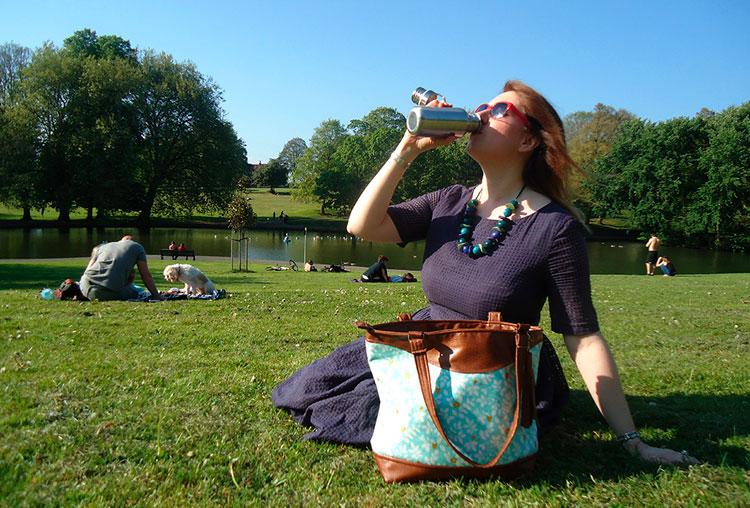 Botella reutilizable iniciativa Refill