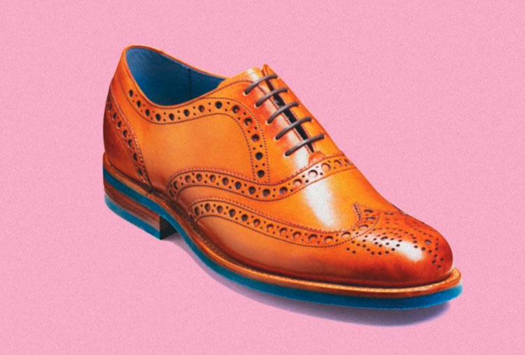Zapato con suela de chicle.