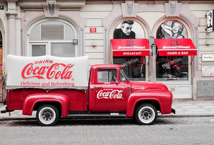Coca-cola, rojo. Color de identidad corporativa