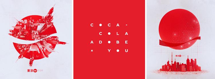 Diseños Adobe y Coca Cola para campaña de Olimpiadas