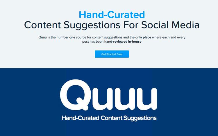 Quuu, herramienta para redes sociales