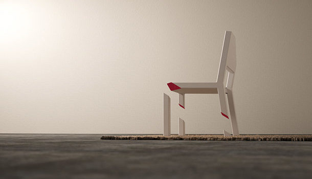 Cut Chair Optical Illusion #design #fotografia #mobiliario