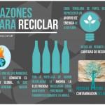5 razones para reciclar #infografia #infographic #medioambiente #reciclar