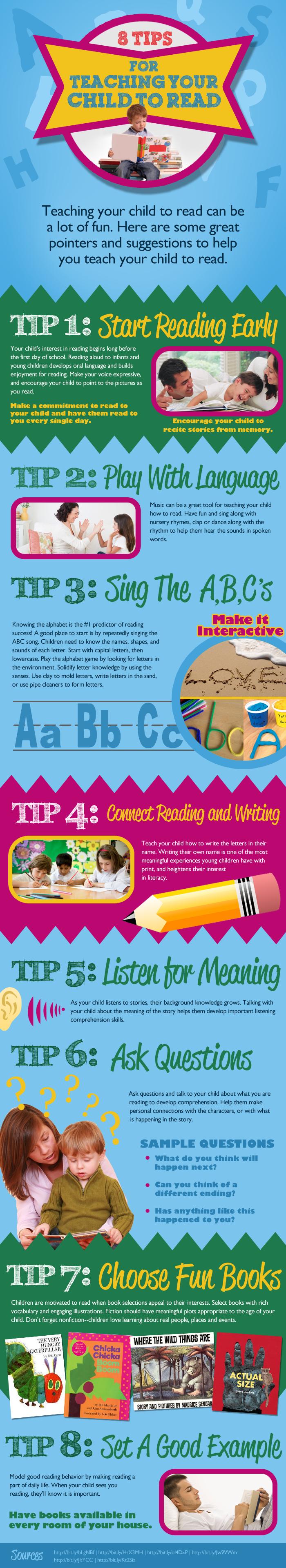 8 consejos para enseñar a tu hijo a leer