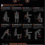 Cómo evitar que el trabajo en una oficina te mate #infografia #infographic #health #trabajo #salud
