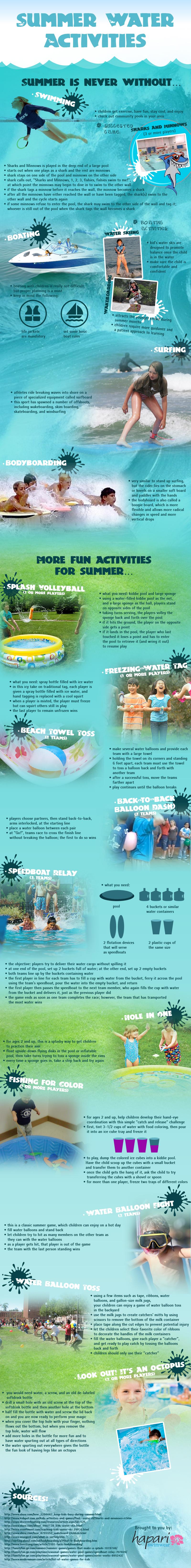 actividades acuáticas para verano