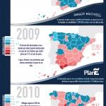 La marea del paro durante la crisis #infografia #infographic #economia #paro #crisis