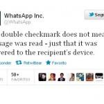 Se confirma: El doble check de Whatsapp no significa que el mensaje se haya leido