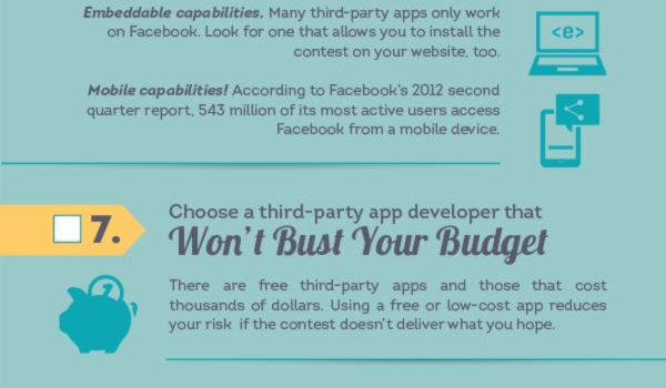 15 pasos para realizar con éxito un concurso en FaceBook #infografia #socialmedia