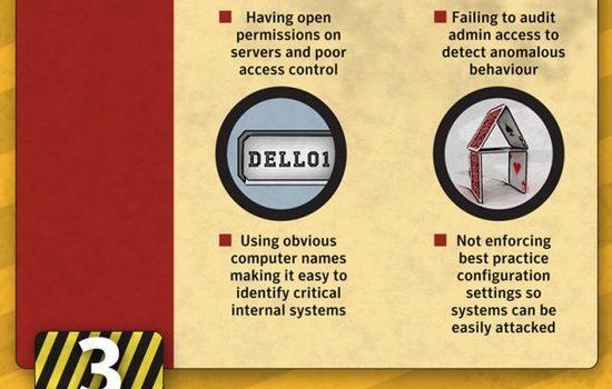 5 errores que nos dejan en manos de hackers. #infografia #seguridad